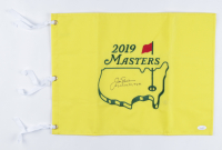 """Jack Nicklaus Signed 2019 Masters Golf Pin Flag Inscribed """"63, 65, 66, 72, 75, 86"""" (JSA LOA) at PristineAuction.com"""