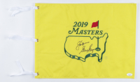 Jack Nicklaus & Gary Player Signed 2019 Masters Golf Pin Flag (JSA LOA) at PristineAuction.com