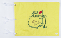 Jack Nicklaus & Gary Player Signed 2015 Masters Golf Pin Flag (JSA LOA) (See Description) at PristineAuction.com