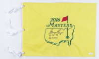 """Gary Player Signed 2016 Masters Golf Pin Flag Inscribed """"61, 74, 78"""" & """"52 Times"""" (JSA COA) at PristineAuction.com"""