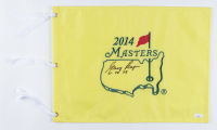 """Gary Player Signed 2014 Masters Golf Pin Flag Inscribed """"61, 74, 78"""" (JSA COA) at PristineAuction.com"""