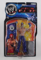 """Rey Mysterio Signed WWE Ring Rage Ruthless Aggression Action Figure Inscribed """"6/9"""" (PSA COA) (See Description) at PristineAuction.com"""