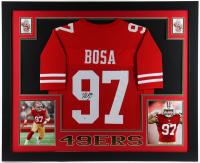 Nick Bosa Signed 35x43 Custom Framed Jersey Display (Beckett COA) at PristineAuction.com