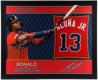 Ronald Acuna Jr. Signed 35x43 Custom Framed Jersey (Beckett COA) (See Description) at PristineAuction.com