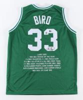 Larry Bird Signed Career Highlight Stat Jersey (Beckett Hologram & Bird Hologram) at PristineAuction.com