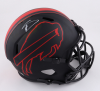Stefon Diggs Signed Bills Full-Size Eclipse Alternate Speed Helmet (Beckett Hologram) at PristineAuction.com