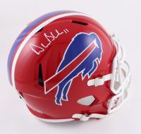 Drew Bledsoe Signed Bills Full-Size Throwback Speed Helmet (Beckett Hologram) at PristineAuction.com