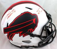 Josh Allen & Stefon Diggs Signed Bills Full-Size Authentic On-Field Lunar Eclipse Alternate Speed Helmet (Beckett Hologram) at PristineAuction.com