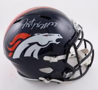 Javonte Williams Signed Broncos Full-Size Speed Helmet (Beckett Hologram) at PristineAuction.com