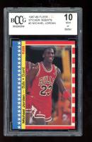 Michael Jordan 1987-88 Fleer Stickers #2 (BCCG 10) at PristineAuction.com