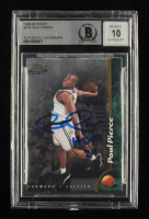 """Paul Pierce Signed 1998-99 Topps Finest #235 RC Inscribed """"HOF 21"""" (BGS Encapsulated) at PristineAuction.com"""