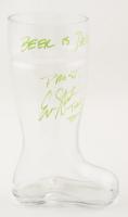 Erik Stolhanske Signed Boot Glass With Multiple Inscriptions (JSA COA) at PristineAuction.com