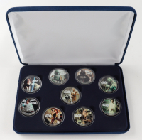 """LE """"Star Wars"""" Commemorative Coin Set with (9) Coins & Display Case at PristineAuction.com"""