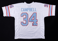 """Earl Campbell Signed Jersey Inscribed """"HOF 91"""" (Beckett Hologram) (See Description) at PristineAuction.com"""