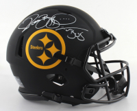 """Jerome Bettis Signed Steelers Full-Size Authentic On-Field Eclipse Alternate Speed Helmet Inscribed """"Bus"""" (Beckett COA) at PristineAuction.com"""