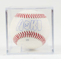 Steve Aoki Signed OL Baseball with Display Case (Beckett COA) at PristineAuction.com