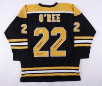 """Willie O'Ree Signed Jersey Inscribed """"1958 Barrier Breaker"""" & """"HOF 2018"""" (JSA COA) at PristineAuction.com"""