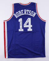 """Oscar Robertson Signed Jersey Inscribed """"Mr. Triple Double"""" (PSA COA & Hollywood Collectibles COA) at PristineAuction.com"""