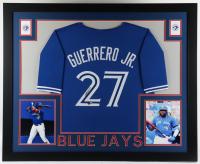 Vladimir Guerrero Jr. Signed 35x43 Custom Framed Jersey Display (Beckett Hologram) at PristineAuction.com