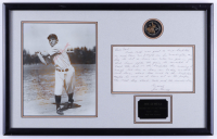 Joe Sewell Signed Yankees 13x21 Custom Framed Photo Display with a Hand-Written Letter & Babe Ruth Coin (JSA COA) (See Description) at PristineAuction.com