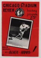 1958 Blackhawks Stadium Review Program at PristineAuction.com