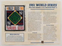 1961 Commemorative World Series Card with Patch: Yankees vs Reds at PristineAuction.com