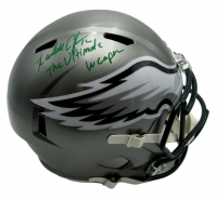 """Randall Cunningham Signed Eagles Full-Size Flash Alternate Speed Helmet Inscribed """"The Ultimate Weapon"""" (JSA COA) at PristineAuction.com"""