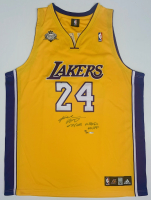 """Kobe Bryant Signed LE Lakers Jersey Inscribed """"07/08 NBA MVP"""" (UDA COA) at PristineAuction.com"""