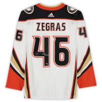 """Trevor Zegras Signed LE Ducks Jersey Inscribed """"NHL Debut 2/22/2021"""" (Fanatics Hologram) at PristineAuction.com"""