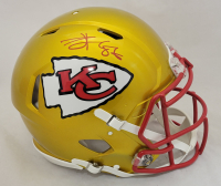 Travis Kelce Signed Chiefs Full-Size Flash Alternate Authentic On-Field Speed Helmet (Beckett Hologram) at PristineAuction.com