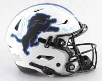 """Barry Sanders Signed Lions Full-Size Authentic On-Field Lunar Eclipse Alternate SpeedFlex Helmet Inscribed """"The Lion King"""" (Schwartz Sports COA) at PristineAuction.com"""