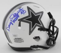 "Daryl ""Moose"" Johnston Signed Cowboys Lunar Eclipse Alternate Speed Mini Helmet (JSA COA) at PristineAuction.com"