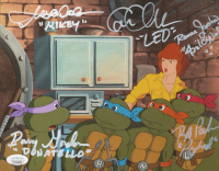 """""""Teenage Mutant Ninja Turtles"""" 8x10 Photo Signed By (5) with Cam Clarke, Barry Gordon, Rob Paulsen, Townsend Coleman & Renae Jacobs with Inscriptions (JSA COA) at PristineAuction.com"""