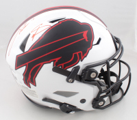 Josh Allen & Stefon Diggs Signed Bills Full-Size Authentic On-Field Lunar Eclipse Alternate SpeedFlex Helmet (JSA COA & Beckett Hologram) (See Description) at PristineAuction.com
