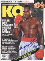 "Sugar Ray Leonard Signed ""KO"" Magazine (PSA COA) at PristineAuction.com"