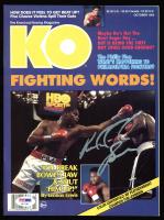 "Riddick Bowe Signed ""KO"" Magazine (PSA COA) at PristineAuction.com"