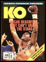 """Oscar De La Hoya Signed """"KO"""" Magazine (PSA COA) at PristineAuction.com"""