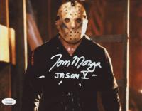 "Tom Morga Signed ""Friday The 13th"" 8x10 Photo Inscribed ""Jason V"" (JSA COA) at PristineAuction.com"