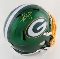 Aaron Jones Signed Packers Full-Size Flash Alternate Speed Helmet (Beckett COA) at PristineAuction.com