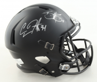 Carlos Hyde & Braxton Miller Signed Ohio State Buckeyes Full-Size Matte Black Speed Helmet (JSA COA) (See Description) at PristineAuction.com