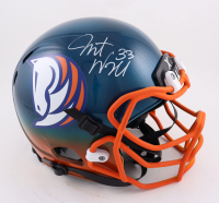 Javonte Williams Signed Full-Size Hydro-Dipped Helmet (Beckett Hologram) (See Description) at PristineAuction.com