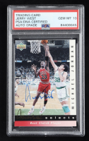 Jerry West Signed Michael Jordan 1992 Upper Deck Jerry West Selects #JW1 (PSA Encapsulated) at PristineAuction.com