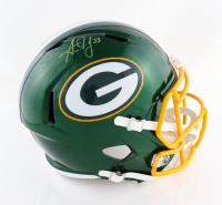 Aaron Jones Signed Packers Full-Size Flash Alternate Speed Helmet (Beckett Hologram) at PristineAuction.com