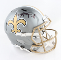 Alvin Kamara Signed Saints Full-Size Flash Alternate Speed Helmet (Beckett Hologram) at PristineAuction.com