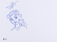 James Baxter Signed Belle 9x12 Hand Drawn Sketch (Beckett COA) (See Description) at PristineAuction.com