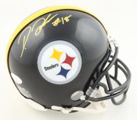 Diontae Johnson Signed Steelers Mini Helmet (JSA COA & Johnson Hologram) (See Description) at PristineAuction.com