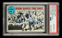 """Nolan Ryan Signed 1970 Topps #197 NL Playoff Game 3 Inscribed """"H.O.F. 99"""" (PSA Encapsulated) at PristineAuction.com"""