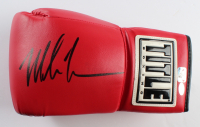 Mike Tyson Signed Title Boxing Glove (Schwartz Sports COA & Tyson Hologram) at PristineAuction.com