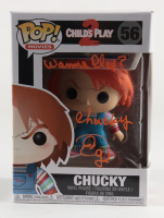 """Ed Gale Signed """"Child's Play 2"""" #56 Chucky Funko Pop! Vinyl Figure Inscribed """"Wanna Play?"""" & """"Chucky"""" (JSA COA) at PristineAuction.com"""