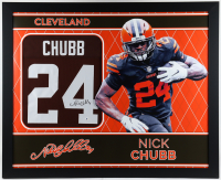 Nick Chubb Signed 35x43 Custom Framed Jersey (Beckett Hologram) at PristineAuction.com
